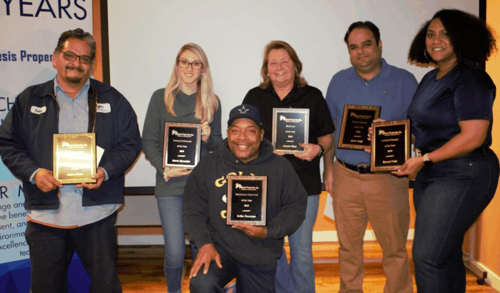 Genesis Properties 2019 Employee Award Winners