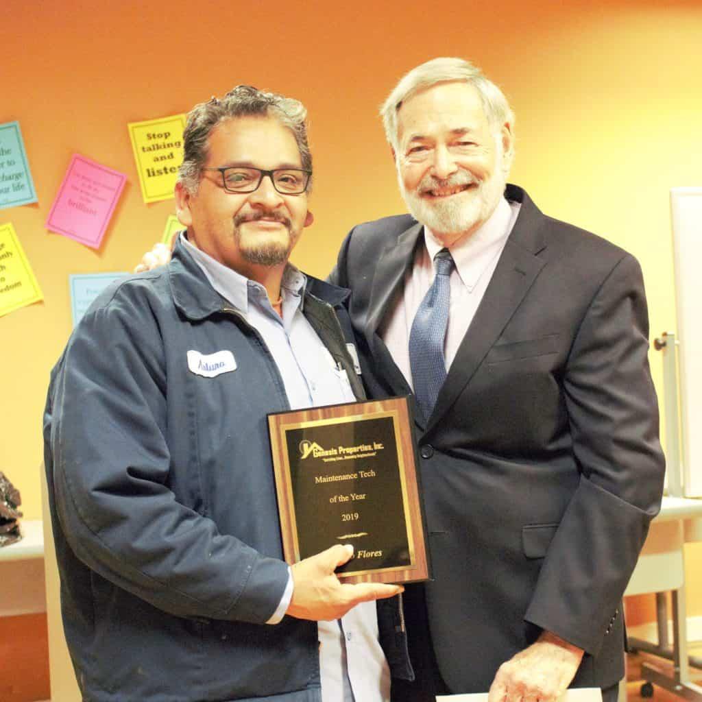 Genesis Properties - 2019 Maintenance Tech of the Year, Arturro Flores